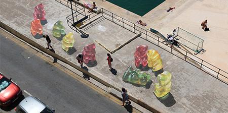 Gummy Bears Street Art