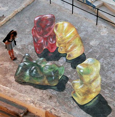 Gummy Bear Street Art