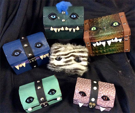 Wayward Leather Design Monster Treasure Chests