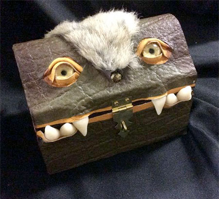 Wayward Leather Design Monster Treasure Chest