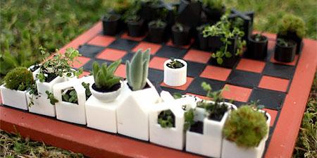 Planter Chess Set