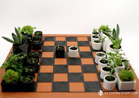 Micro Planters Chess Set