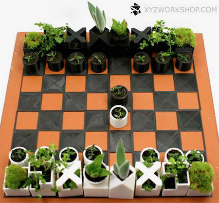 Planters Chess Set