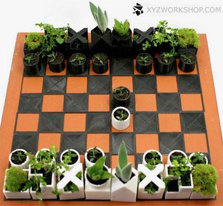 Planters Chess Set