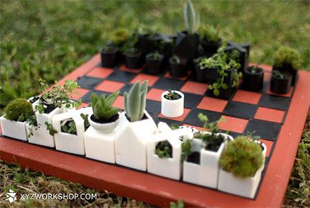 Flower Planter Chess Set