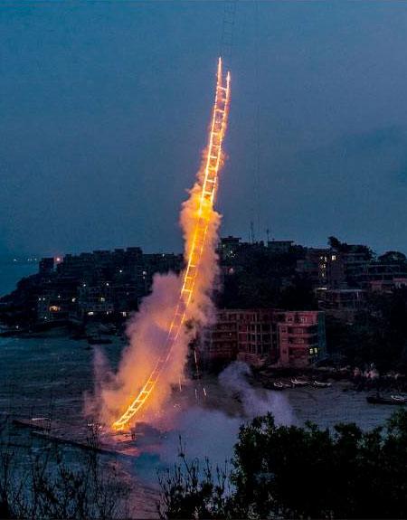 Cai Guo-Qiang Sky Ladder
