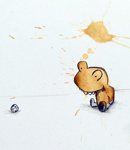 Coffee Monsters Drawings