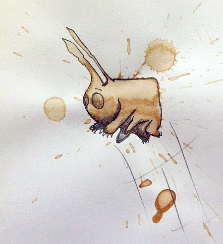 Coffee Spills Drawing