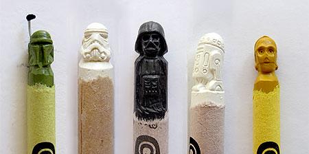 Crayon Carving Art