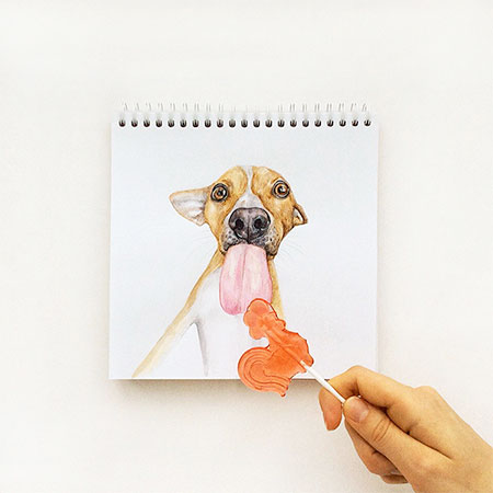 Interactive Dog Drawing