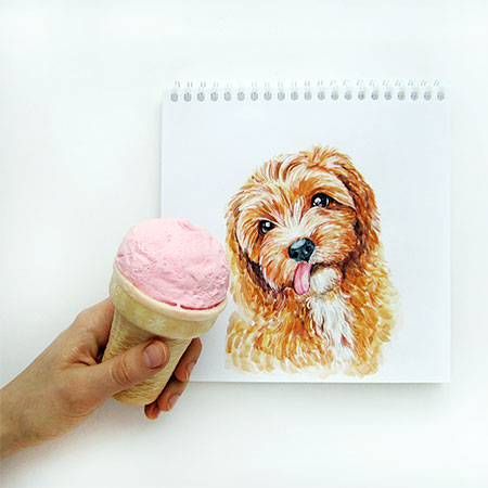 Valerie Susik Interactive Dog Illustrations