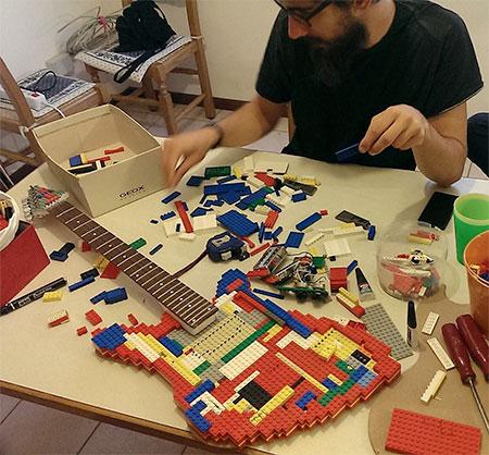 Guitar Made of LEGO
