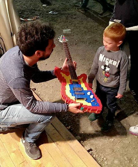 Electric Guitar Made of LEGO