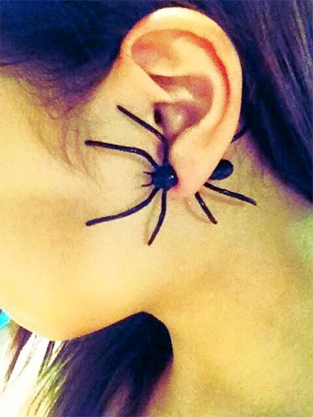 Double M Spider Earrings