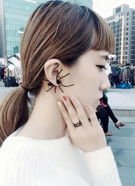 Japanese Spider Earrings