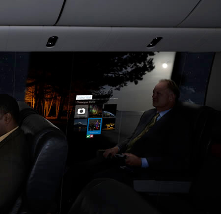 Airplane with Display Walls