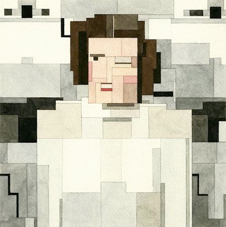 8-Bit princess leia