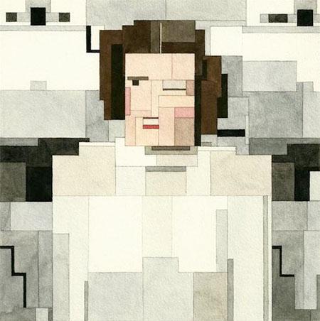 8-Bit Princess Leia