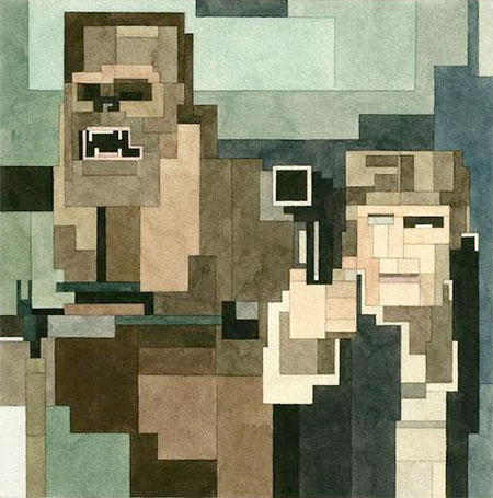 8-Bit Han Solo and Chewbacca