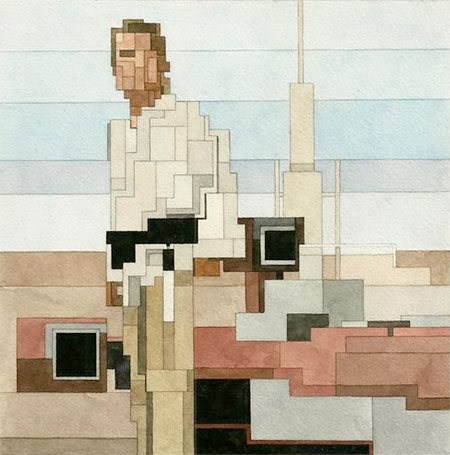 8-Bit luke skywalker