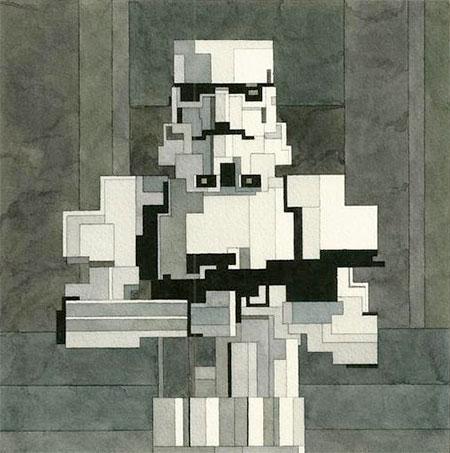 8-Bit Stormtrooper