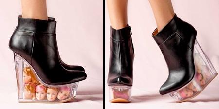 Barbie Head Shoes