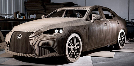 Car Made of Cardboard