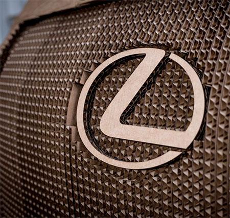 Lexus Car Made of Cardboard