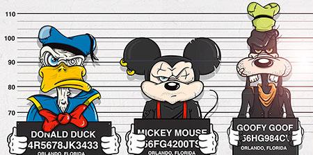 Disney Mugshots