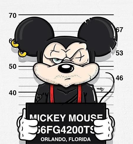 Mebz Art Disney Mugshots