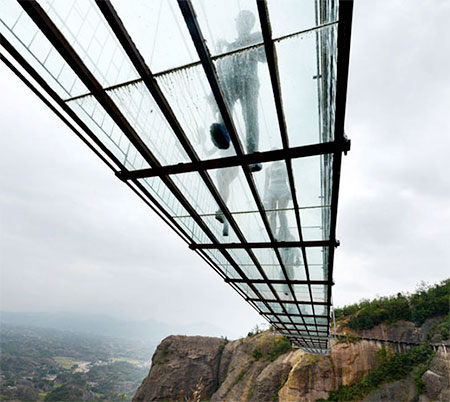 Transparent Suspension Bridge