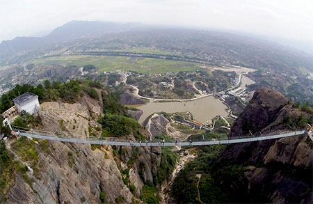 Transparent Glass Bridge in China