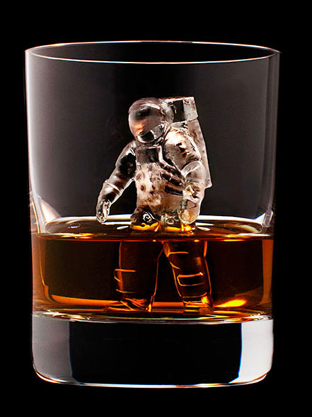 Carved Ice Cube Sculptures