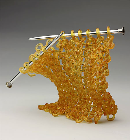 Carol Milne Knitted Glass Sculptures