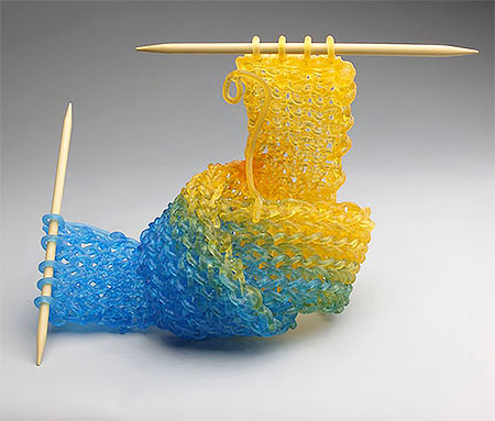 Knitted Glass by Carol Milne