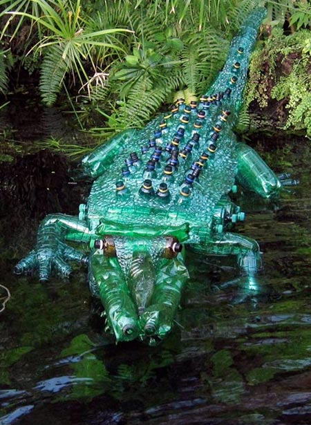 Plastic bottle sculptures for Art made from plastic bottles