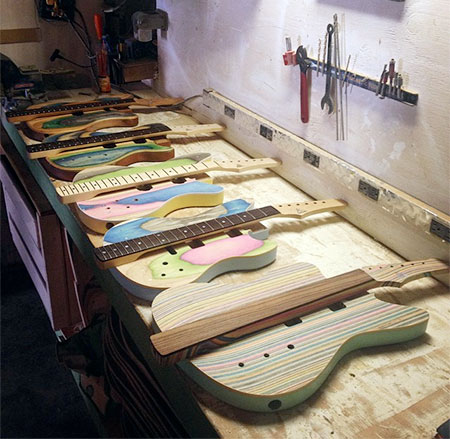 Broken Skateboards Guitars