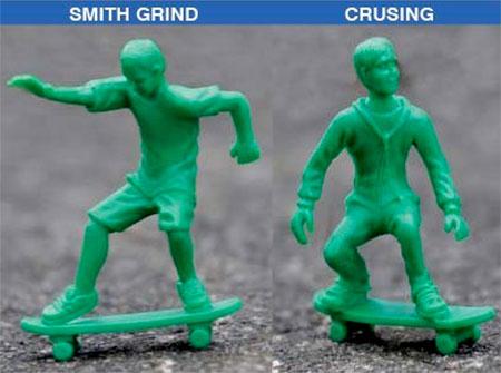Green Toy Skateboarders