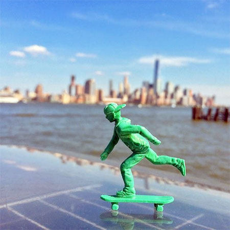Green Toy Skateboarder