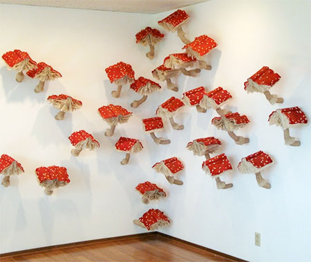 Mushrooms Made of Books