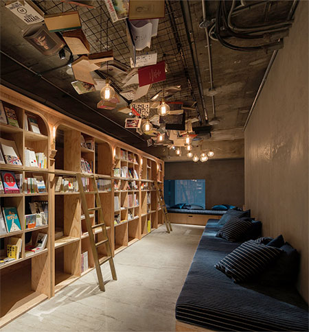 Bookstore Hotel in Japan