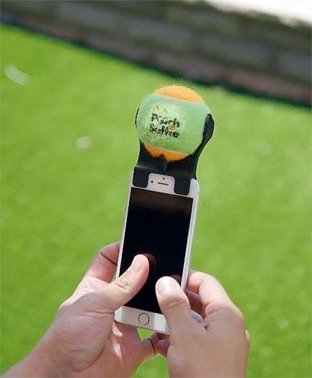 Tennis Ball Phone Attachment