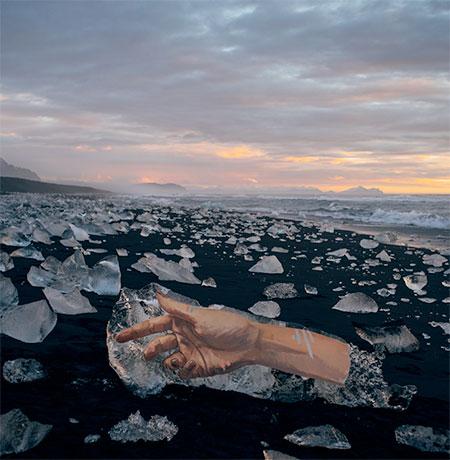 Art on Melting Iceberg