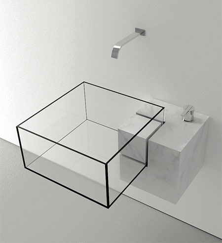 Invisible Bathroom Sink