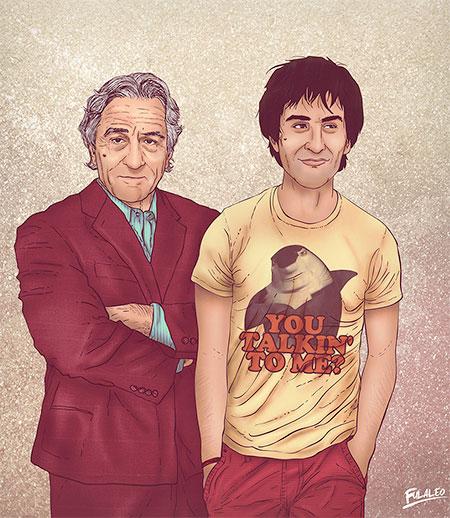 Young and Old Robert de Niro