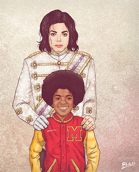 Young and Old Michael Jackson