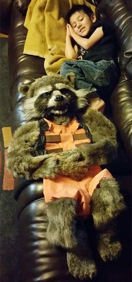 Realistic Rocket Raccoon Costume