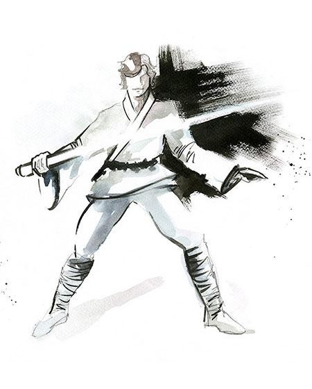 Luke Skywalker Watercolor Painting