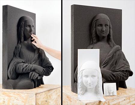 3D Printed Mona Lisa