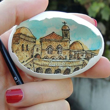 Paintings on Eggshells